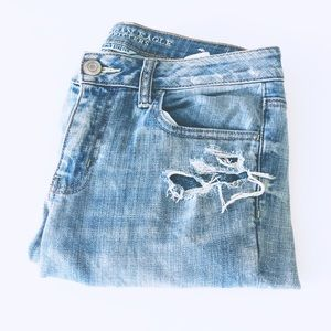 AEO Distressed Super Stretch Light Skinny Jeans